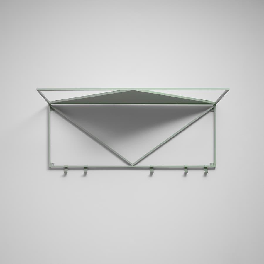 Minimalisten hatthylla grön struktur L=800 mm 1